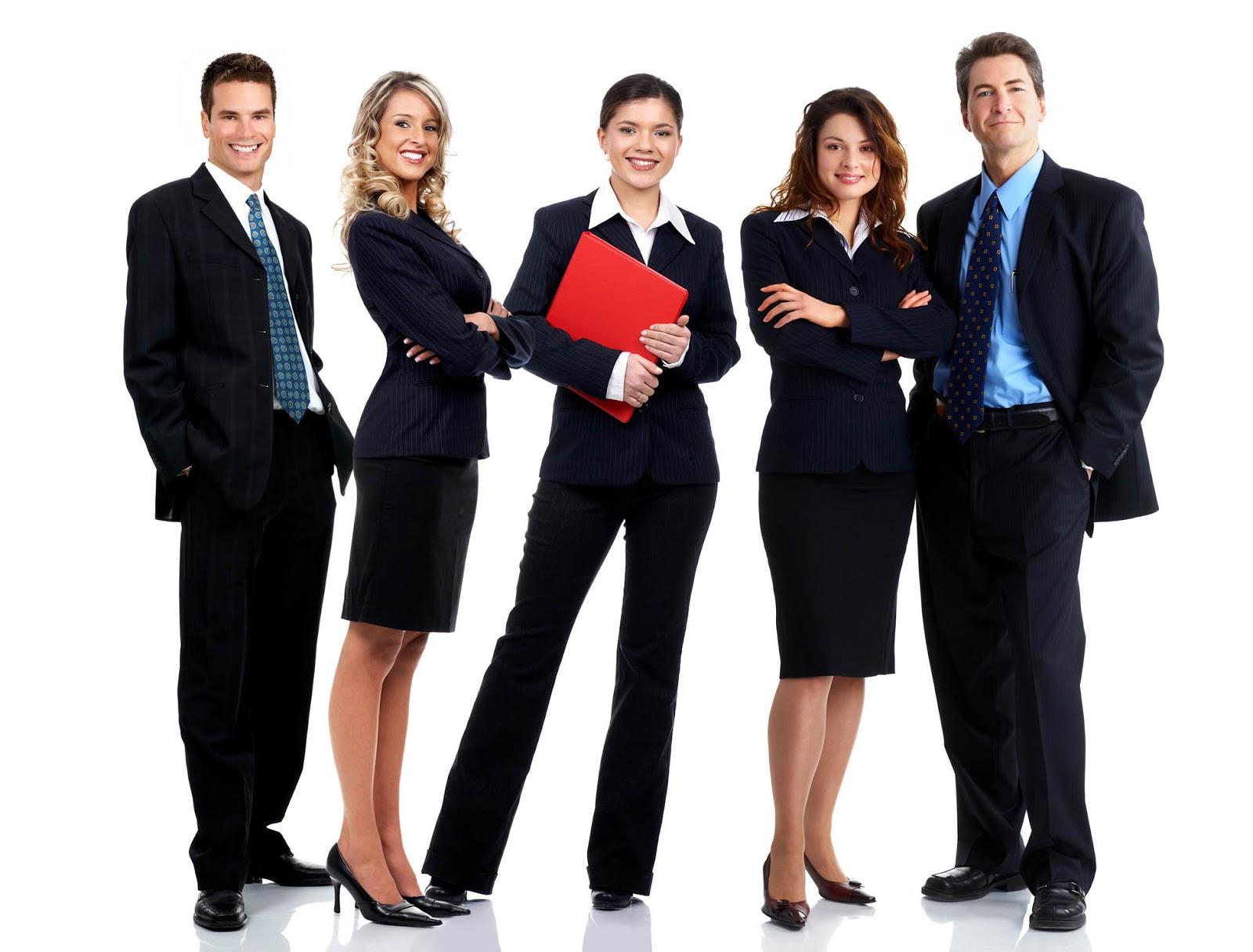Executivos Vestidos com Uniformes Profissionais